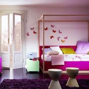紫色调房间效果图片