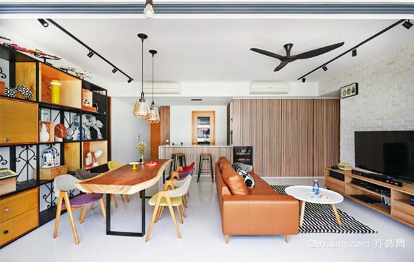 简欧现代化创意单身公寓平面图装修效果