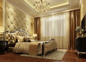 2016大户型经典的欧式卧室背景墙装修效果图