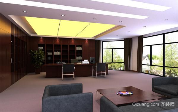 完美都市精致的老板办公室吊顶装修效果图