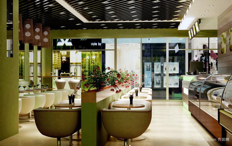 小户型清新港式茶餐厅沙发装修效果图