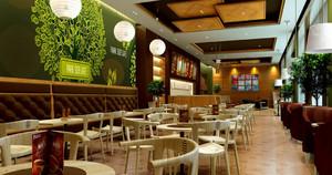 2016深色调咖啡店装修效果图
