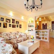 田园风格70平米小户型客厅装修设计图