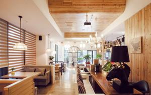 自然风格咖啡厅效果图