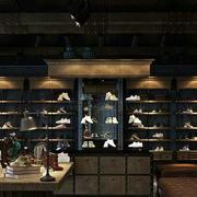 深色调鞋店效果图片