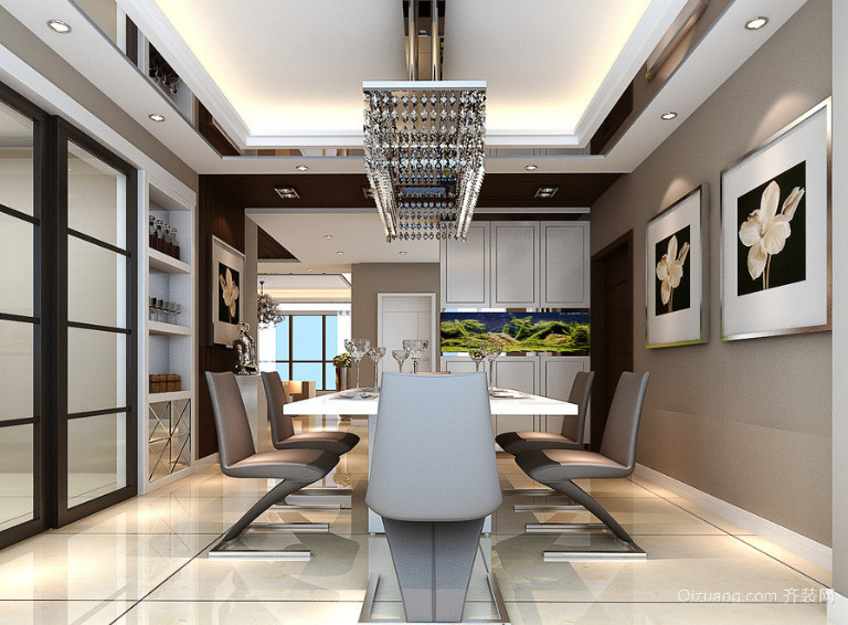 70平米欧式精美的小户型餐厅装修设计效果图