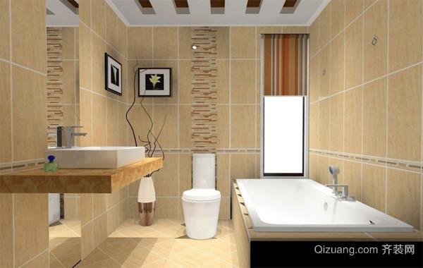 90平米大户型精致的欧式卫生间背景墙装修效果图