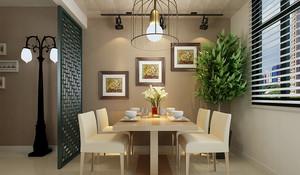 都市朴素小型公寓餐厅装修效果图