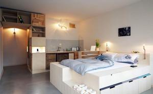 时尚小型公寓卧室榻榻米装修效果图
