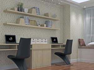 2016精致完美的大户型现代书房背景墙装修效果图