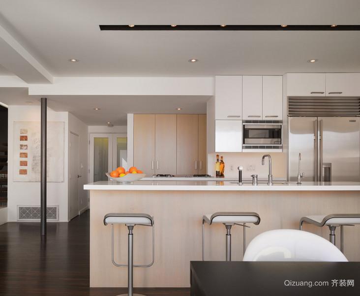 120平米大户型欧式开放式厨房装修效果图鉴赏