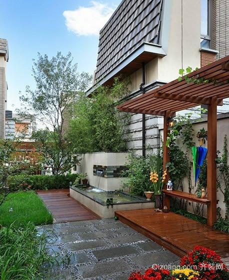 2016优雅唯美的欧式别墅庭院设计装修效果图