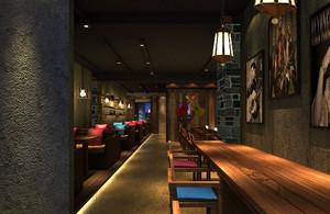110平米暖色调咖啡店装修效果图