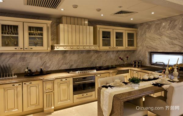 120平米大户型欧式精致的厨房吊顶装修效果图