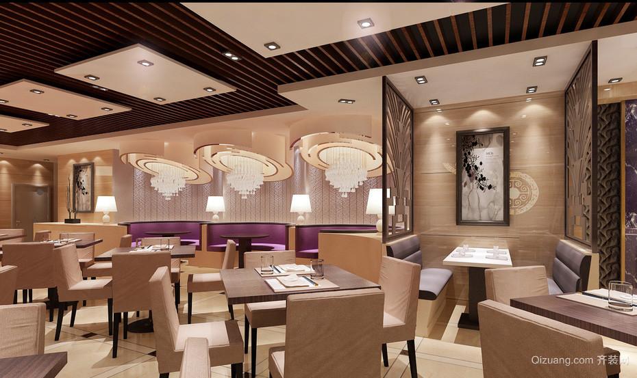 精致高雅大户型港式茶餐厅沙发效果图