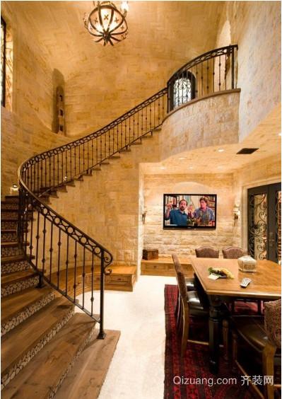 现代欧式大户型阁楼楼梯装修效果图实例