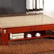 130平米家居客厅高贵天然大理石茶几图
