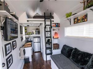现代小型一居室公寓客厅装修效果图