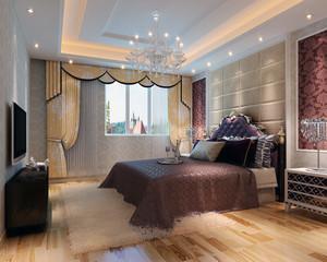 2016大户型经典简欧风格卧室背景墙装修效果图