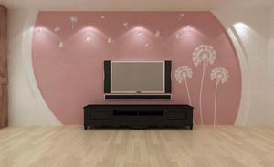 大户型简约风格硅藻泥电视背景墙图片