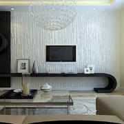 别墅宜家风格硅藻泥电视背景墙图片