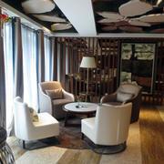 咖啡厅木地板效果图