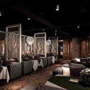 情调优雅:大型港式茶餐厅沙发装修图