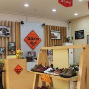 暖色调鞋店效果图片