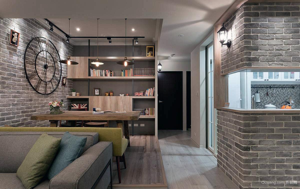 美式乡村二居客厅简约装修效果图