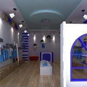 地中海风格40平米童装店面装修效果图