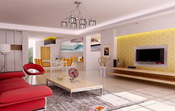 90平米大户型欧式奢华客厅电视背景墙装修效果图