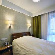 小户型白色卧室吊顶