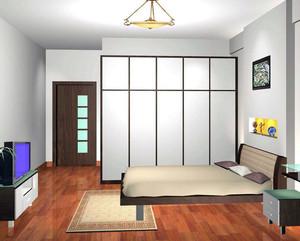 2016舒适独特的大户型日式榻榻米卧室装修效果图
