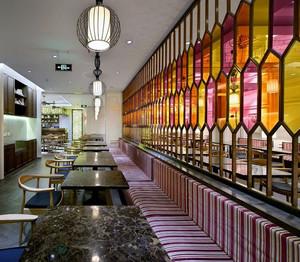港式大户型茶餐厅卡座沙发装修效果图