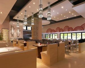 温馨大户型港式茶餐厅沙发装修效果图