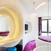 2016时尚个性小型公寓卧室装修效果图
