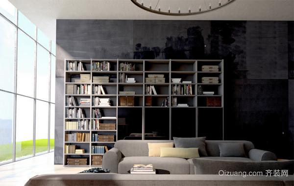 大户型都市风格书房设计装修效果图
