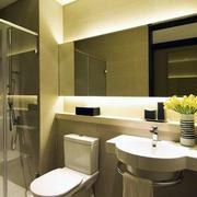 简约都市化小户型卫生间装修设计图