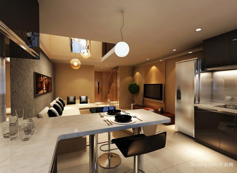 前卫70平米小型都市公寓吧台装修效果图