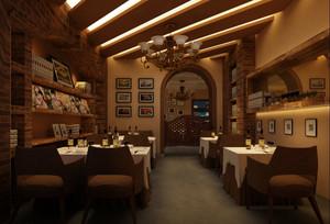 田园复古风格小户型餐厅装修效果图