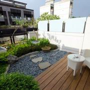清新别墅露台小花园装修设计效果图