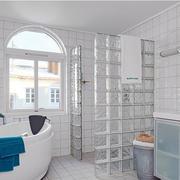 前卫两室一厅卫生间玻璃砖隔墙效果图