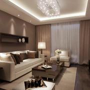 都市温馨现代小户型家装客厅效果图