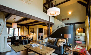 2016跃层复古风格小客厅装修效果图