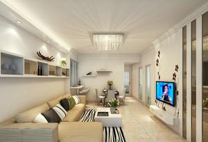 2016素雅单身小公寓客厅装修效果图