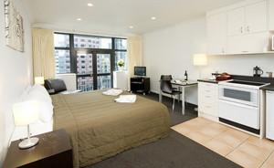 都市50平米单身公寓卧室装修效果图