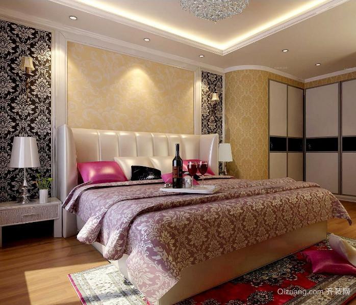 80平米小户型欧式卧室背景墙装修效果图