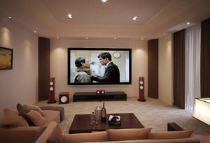 138平米温馨色调家庭影院装修效果图