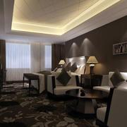 精致豪华星级酒店套房卧室设计装修图