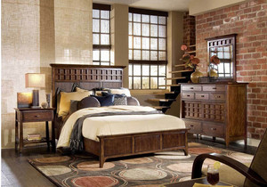 2016复古风格两室一厅卧室装修效果图